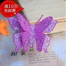 Min. order $9(mix order)6 pcs a lot  Child Hair Accessory Butterfly Side-knotted Clip Neon Color Hair Accessory
