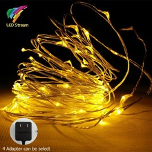10 COLORS 10M 100 Led Silver Color Copper Wire mini String Fairy Lights with Approved Adapter 100-240Vac DC12V US EU UK AU Plug