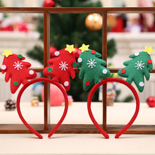 Stylish Christmas Tree Women Girls Cute Headband Hairband Head Band Unique Design Festival Hair Band  Accessories Christmas Gift