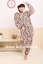Leopard hello kitty  Anime adult onesies Pyjamas Cartoon Animal Cosplay Costume Pajamas adult Onesies Sleepwear Halloween