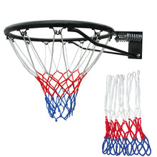 Hot New Standard Durable Nylon Basketball Goal Hoop Net Netting Red/White/Blue baloncesto Outdoor Sports Cheap Z1S1