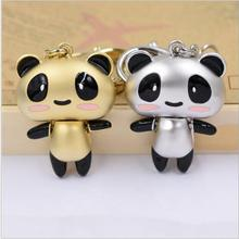 Valentine Lover Gift lovely Panda keychain bag pendant a couples key ring Trinket key chains car keychain