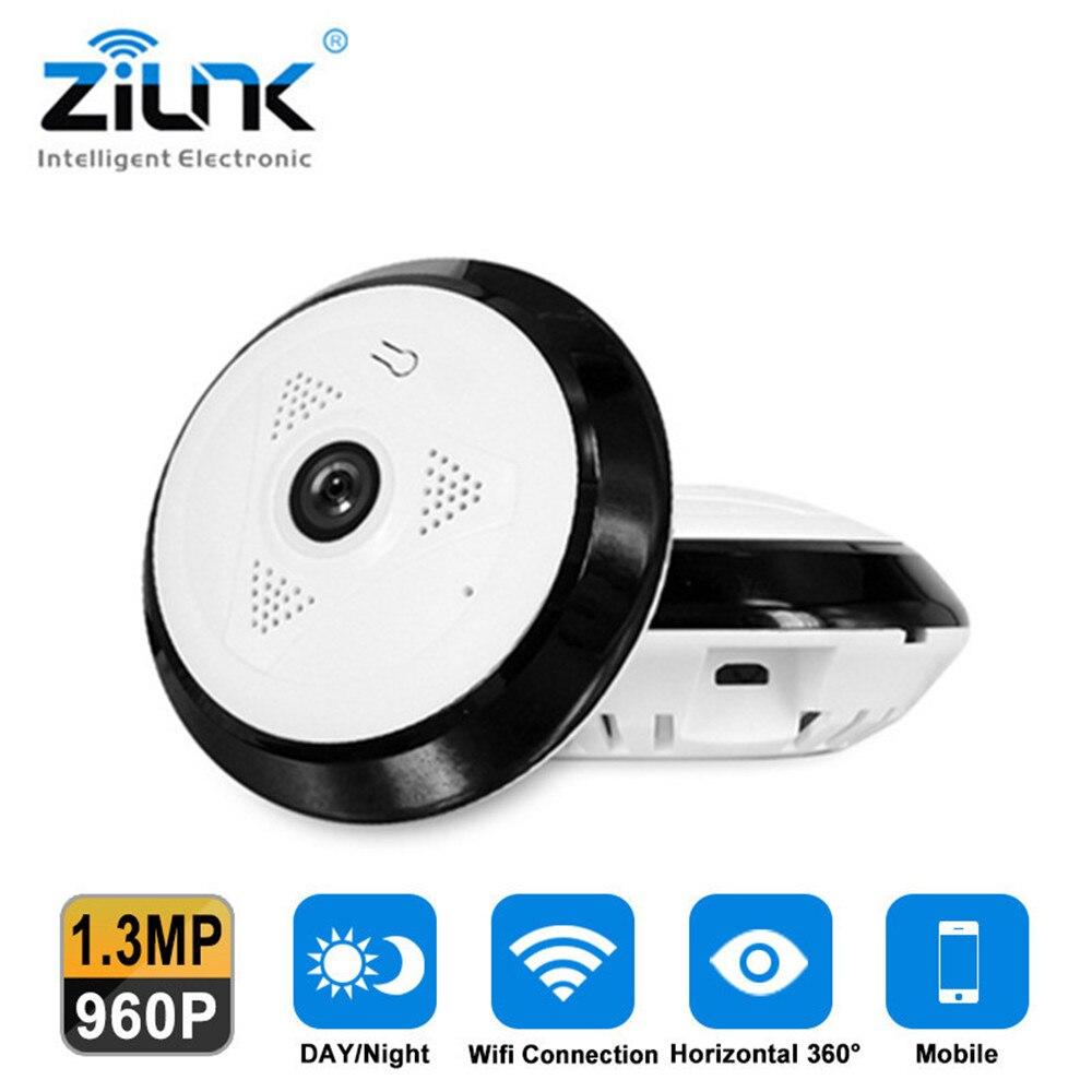 ZILNK 3D VR Cam WIFI IP Camera 360 Degree Fisheye Panorama HD 960P Night Vision 1.3MP CCTV Security Surveillance Camera<br>