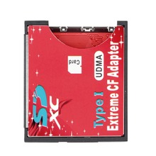 Single Slot Extreme For Micro SD/SDXC TF To Compact Flash CF Type I Memory Card Reader Writer Adapter