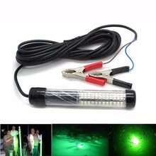 1PCS 12V LED Underwater Fishing Light Lamp Fishing Boat Light Night Fishing Lure Lights for Attcating Fish With 5M Wire Cable