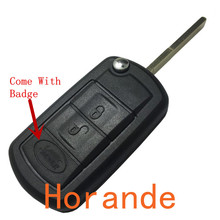 New Flip Car Key Shell Case for Land Rover Range Rover Sport LR3 Discovery Key Case Fob 3 Buttons Free shipping D15