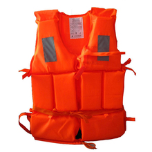 Kid Adult Drifting Water-skiing Foam Life Jacket Life Vest With Survival Whistle Water Sports Surfing Jacket P15(China)