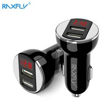 Buy RAXFLY Dual USB Car Charger Single Port Output 5V/2.4A Universal Car-Charger iPhone Samsung Mobile Phone Travel Adapter for $4.74 in AliExpress store