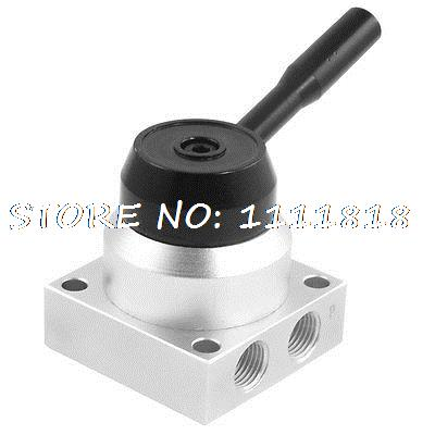Hand-switching 3 Position 4 Way Pnematic Hand Lever Valve<br><br>Aliexpress