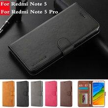 Coque Xiaomi Redmi Note 5 Pro Case Leather Wallet Phone Case funda Xiaomi Redmi Note 5 Case Luxury Wallet Flip Cover hoesje