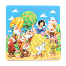 3D Wooden paper Jigsaw Puzzles Toys for Children Snow White Puzzles Kids Toys Baby Toys Educational toys Puzzels Christmas gifts(China)
