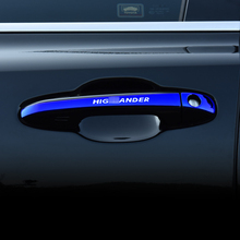 Car styling Accessories For Toyota Highlander Kluger 2014 2015 2016 Exterior Door Handle Cover Sticker Decoration Auto Parts