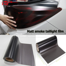 Free Shipping 2 Roll/Lots Matte Black Smoked Headlight Film Tint Taillight / Motorbike Rear Lamp Tinting Film Foil 0.3x9m/Roll