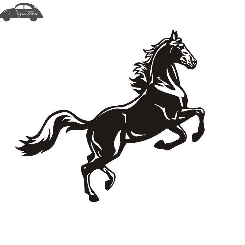 Horse Decal Car Posters Vinyl Wall Decals Pegatina Quadro Parede Decor Mural Sticker 719