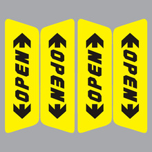 Free Shipping Retail Reflective Car Door Sticker Open Words Safety Warning Sticker Car Styling 2 Colors on Sale(China)