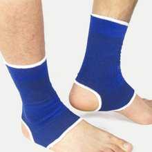 2 PCS/SET Ankle Foot Elastic Compression Wrap Sleeve Bandage Brace Support Protection Sports Relief Pain Foot Outdoor