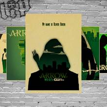 Art Printed Green Arrow Man Tv Series Painting retro Poster Room Decor Print Poster paper Picture Free Shipping