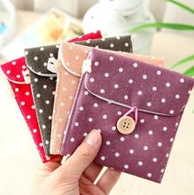 1Pcs Clean New Women Storage Bag Great Hand Feel Short Cotton Ladies' Bag Small Convenience 5 Colors Delicate