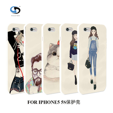 vcustom Popular Cartoon Hybrid Design Plastic Phone Back Cover For IPHONE 5 5S Case,Hard Back Cover Skin Shell(China)