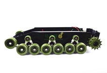 DIY 85 Light shock absorption Plastic Tank Chassis with Rubber Crawler belt Tracked Vehicle Big Size(China)