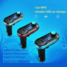 Wired FM Transmitter MP3 Player Car Phone Charger For Samsung iPhone Meizu Huawei Pad Oppo LG Samsung ZTE Xia omi HTC VIVO