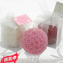 wedding decoration favour promotions gifts romantic aromatherapy smoke-free rose ball scented candle making candle velas(China)