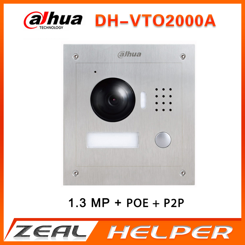 Dahua doorbell VTO2000A IP Metal Villa Outdoor Station intercom Video Door Phone with free Surface mounted box(China)