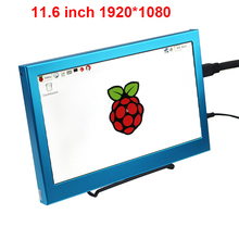 New 11.6 inch 1920*1080 Raspberry Pi LCD Display HD Screen Metal Case HDMI VGA Interface for PS3 PS3 XBox 360 Raspberry Pi 3