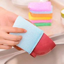 Washing Cleaning Dishcloth Kitchen Household Magic Eraser Sponge Scouring Pad Wash Pot Bowl Pan Dishes Super Clean Kitchen Tools(China)