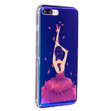 2017 New Rose Daisy Flowers Girl image Painted Soft TPU Case for iphone 7 7plus Blu-ray Glitter Silicone Phone Case