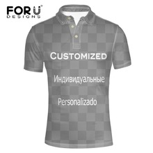 FORUDESIGNS Men's Polo Shirt Customized Holiday Tee Breathable Loose Fit Short Sleeve Summer Casual Short XS S M L XL XXL XXXL(China)