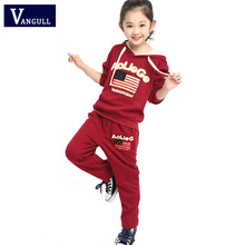 spring and autumn clothing 2016 children Suit Girls sweater boy Korean sport suit a flag on behalf of