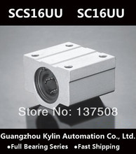 Best Price! 4 pcs SCS16UU/SC16UU Linear Bearing 16mm Linear Slide Block , 16mm CNC Router linear slide