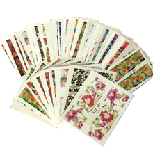 50Sheets Hot Beauty Flower Full Wraps Nail Art Water Transfer Sticker Decorations of DIY Charm Foils Decals Tools STZ086-133-SET