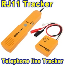 2015 New Arrive Durable Handheld Telephone Cable Tracker Phone Wire Detector RJ11 Line Cord Tester Tool Kit Tone Tracer Receiver