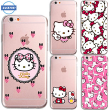 LUCKYDIY TPU for For iphone 6 case Tpu Silicone For Cartoon HELLO KITTY transparent For huawei P8 lite case mobile phone bag