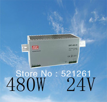 Din rail power supply 480w 24V power suply meanwell ac dc converter DRP-480S-24 Original MeanWell 480W 20A 24V Industrial(China)