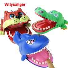 Large Bulldog Crocodile Shark Mouth Dentist Bite Finger Game Funny Novelty Gag Toy for Kids Children Play Fun(China)