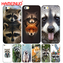 HAMEINUO fashion Raccoon red panda fox cell phone Cover case for iphone 6 4 4s 5 5s SE 5c 6 6s 7 8 plus case for iphone 7 X(China)