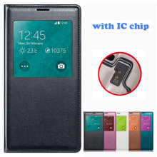 Auto Smart Sleep Window Cases Leather Flip Cover For Samsung Galaxy S5 Luxury Cell Phone Cases For Samsung s5 Mobile phone bag