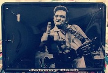 MUSIC ROCK Pub signs Bar Decor metal painting tin signs JOHNNY CASH poster painting wall art Vintage home decor 20X30 CM Free