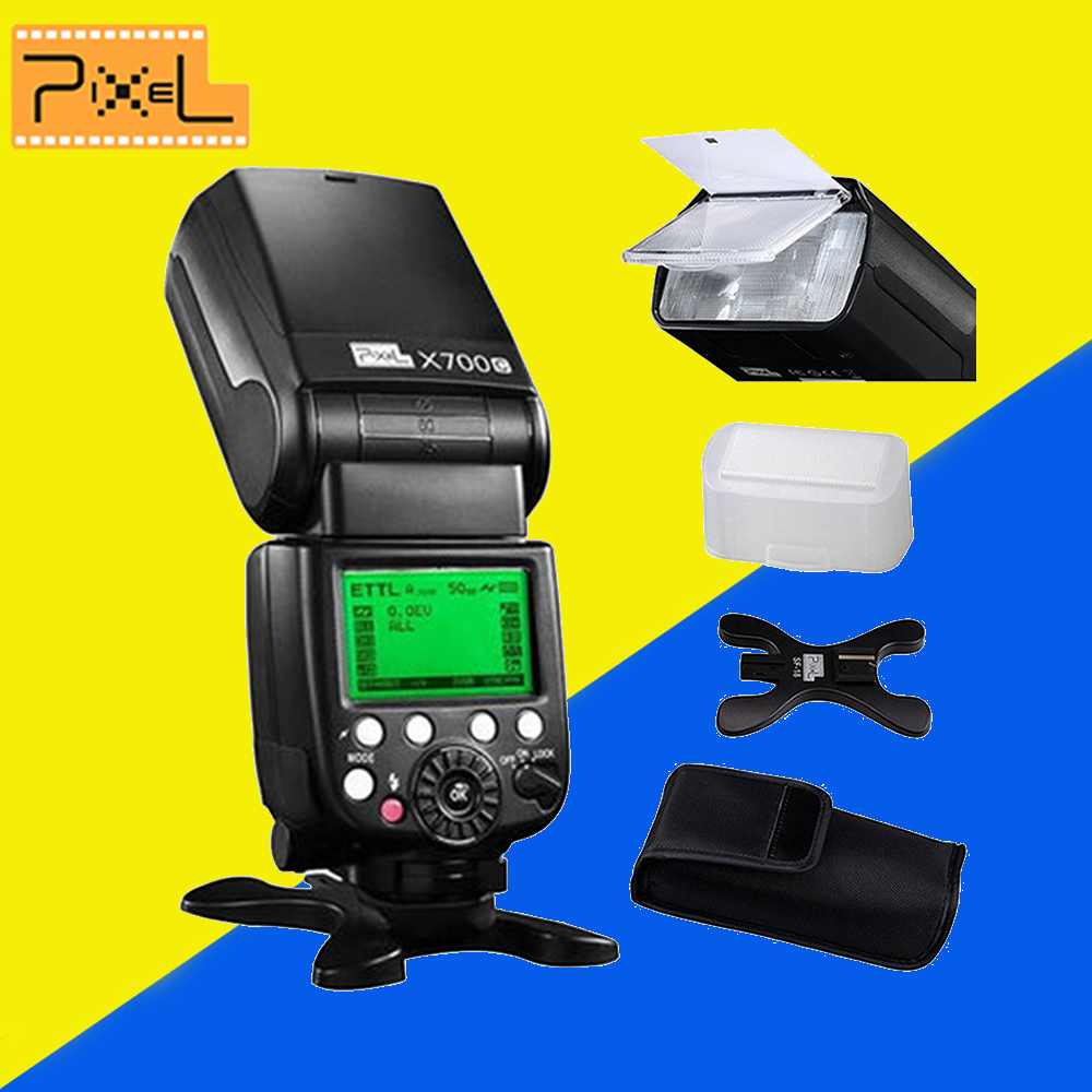 2pcs Pixel X700C TTL Wireless HSS Flash Speedlite for Canon DSLR Cameras VS Yongnuo YN-568EX II YN568EX II Flash Speedlight<br><br>Aliexpress