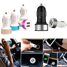 Factory Price Hot Selling Mini 2 Port Mini Dual USB Car Charger Adapter For IPhone Samsung Universal Use Free Shipping