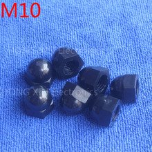 M10 1 pcs Black Nylon acorn nuts /10mm Protection Dome Head hex Cover Nuts/Plastic hexagon Cap Nut brand new high-quality
