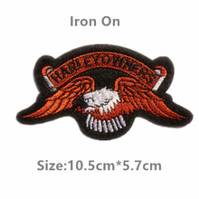 "Free shipping ""HARLEYOWNERS"" Iron on Patches,10 pcs Brand Logo Patch Harley Badges,100% Quality Assurance"