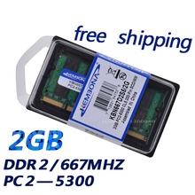 2GB PC2-5300S DDR2-667 667Mhz 200pin DDR2 Laptop Memory 2G pc2 5300 667 Notebook Module SODIMM RAM Free Shipping
