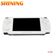 X8 4.3 Inch Touch Screen 8GB Portable Game Console With E-book TV Out Handheld Many Classical Free Games MP3 MP4 MP5 Player(China)