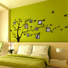 Buy 2017 Wall Stickers Home Decor Family Black 3D DIY Photo Frame Tree Wall Decals /Adhesive Art Stickers Mural Wallpaper House for $9.62 in AliExpress store