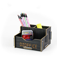 DIY Wood Pen Holder Pens stand Pencil Holders for Desk 2016 New Office Accessories Supplies Stationery Kawaii