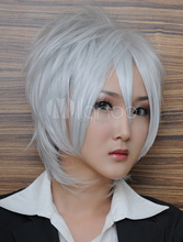 The Labyrinth of Magic Ja'far Heat-resistant Fiber Cosplay Wig Silvery White Hair